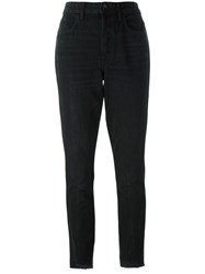 Helmut Lang Slim Fit Cropped Jeans Black