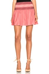 See By Chloe Mini Skirt In Pink