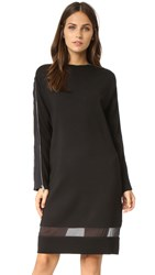 Rag And Bone Aimee Zipper Sweater Dress Black