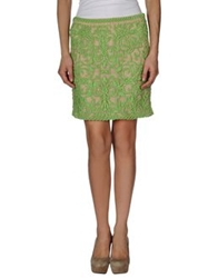 Hale Bob Knee Length Skirts Green