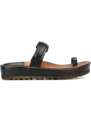 Silvano Sassetti Toe Strap Sandals Black