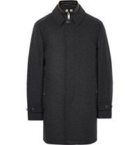 Burberry Wool And Cahmere Blend Coat With Detachable Hell Gilet Charcoal