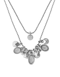 Lucky Brand Multi Row Mini Charm Necklace Silver