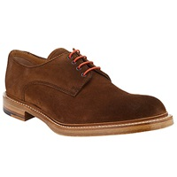John Lewis And Co. Made In England Suede Derby Shoes Brown