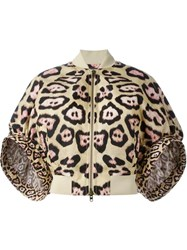 Givenchy Cocoon Sleeves Bomber Jacket Nude And Neutrals