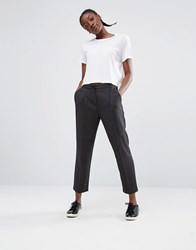Monki Tailored Peg Trouser Grey Melange