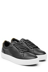 Burberry Shoes And Accessories Leather Sneakers Black