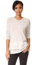 Wilt Mock Layered Sweater Grey Heather