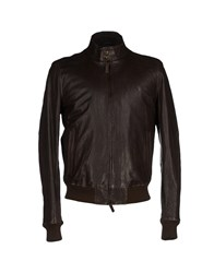 Jeckerson Coats And Jackets Jackets Men Dark Brown