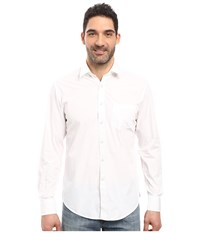 James Campbell Long Sleeve Woven Upton White Men's Long Sleeve Button Up