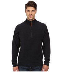 Woolrich Bromley Half Zip Deep Navy Heather Men's Clothing