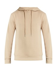 A.P.C. Brook Hooded Cotton Sweatshirt Beige