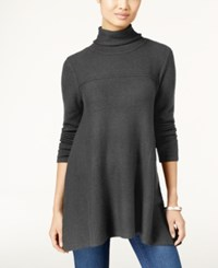 Styleandco. Style Co. Turtleneck Tunic Sweater Only At Macy's Steel Heather Grey