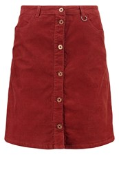 Only Aline Skirt Henna Dark Red