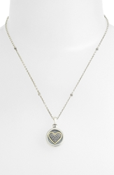 Lagos Heart Locket Caviar Necklace Sterling Silver Gold