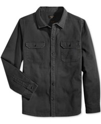 Quiksilver Men's Military Shacket With Faux Fleece Lining Byj0 Navy