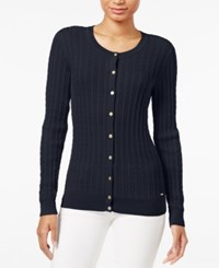 Tommy Hilfiger Frida Cable Knit Cardigan Masters Navy