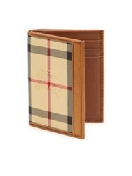 Burberry Checked Leather Billfold Wallet Plaid Multi