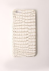 Missguided Snakeskin Iphone 6 Case White White