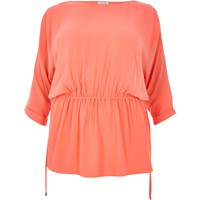 River Island Womens Ri Plus Orange Cold Shoulder Tunic