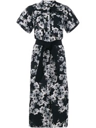 Erdem Floral Print Shirt Dress Black