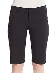 Vince Stretch Cotton Bermuda Shorts Black