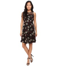 Donna Morgan Sleeveless Fit Flare With Full Skirt Black Gold Women's Dress