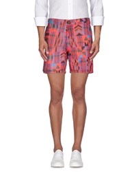 Flage Trousers Bermuda Shorts Men Red