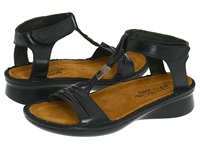 Naot Footwear Cymbal Black Madras Leather Women's Sandals