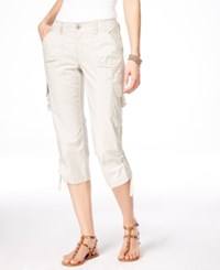 Inc International Concepts Curvy Fit Cargo Capri Pants Only At Macy's Toad Beige
