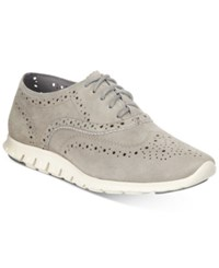 Cole Haan Zerogrand Wingtip Lace Up Oxfords Women's Shoes Grey