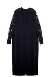 Elie Saab Beaded Coat Black