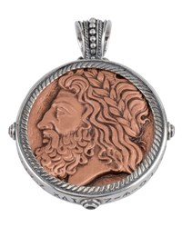 Konstantino Men's Sterling Silver And Copper Zeus Pendant W Spinel Insets