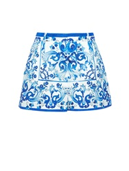 Dolce And Gabbana Majolica Print Brocade Shorts