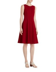 Lafayette 148 New York Punto Milano Fit And Flare Dress Red