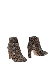 Rebeca Sanver Ankle Boots Khaki