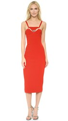 Thierry Mugler Sleeveless Dress Poppy