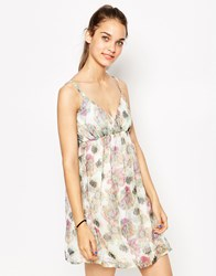 Daisy Street Sun Dress In Floral Print Floral