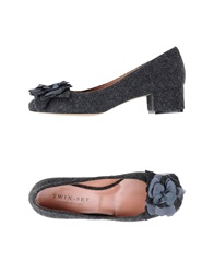 Twin Set Simona Barbieri Moccasins Steel Grey
