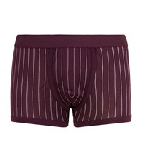 Dolce And Gabbana Pinstripe Trunks Male Red
