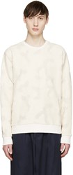 Msgm Beige Textured Camouflage Pullover