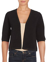 French Connection Erin Banded Cotton Cardigan Black