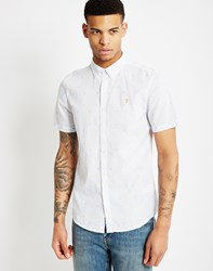 Farah Heasman Slim Short Sleeve Button Down White