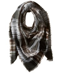 Steve Madden Classic Plaid Square Scarf Neutral Scarves