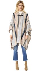Maiyet Hooded Poncho Multi