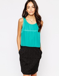 See U Soon 2 In Dress In With Textured Skirt Greenblack