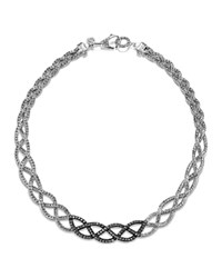 John Hardy Classic Chain Lava Collar Braided Necklace With Black Sapphires In Sterling Silver Bloomingdale's Exclusive Silver Black