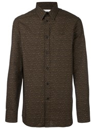 Givenchy Logo Print Shirt Brown