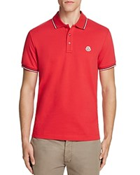 Moncler Tipped Regular Fit Polo Shirt Red