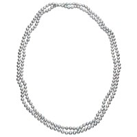 Claudia Bradby Long Freshwater Pearl Rope Necklace Silver